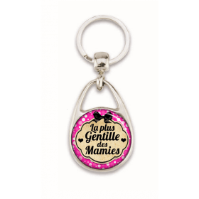 Porte clés pour la plus gentille des mamies