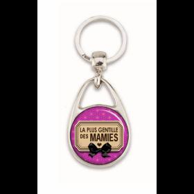 """Super porte clés """"La plus gentille des mamies"""""""