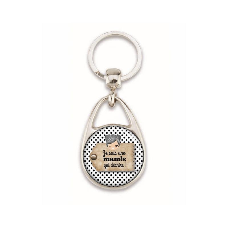 Porte clés pour mamie - Idée cadeau mamie - Em création