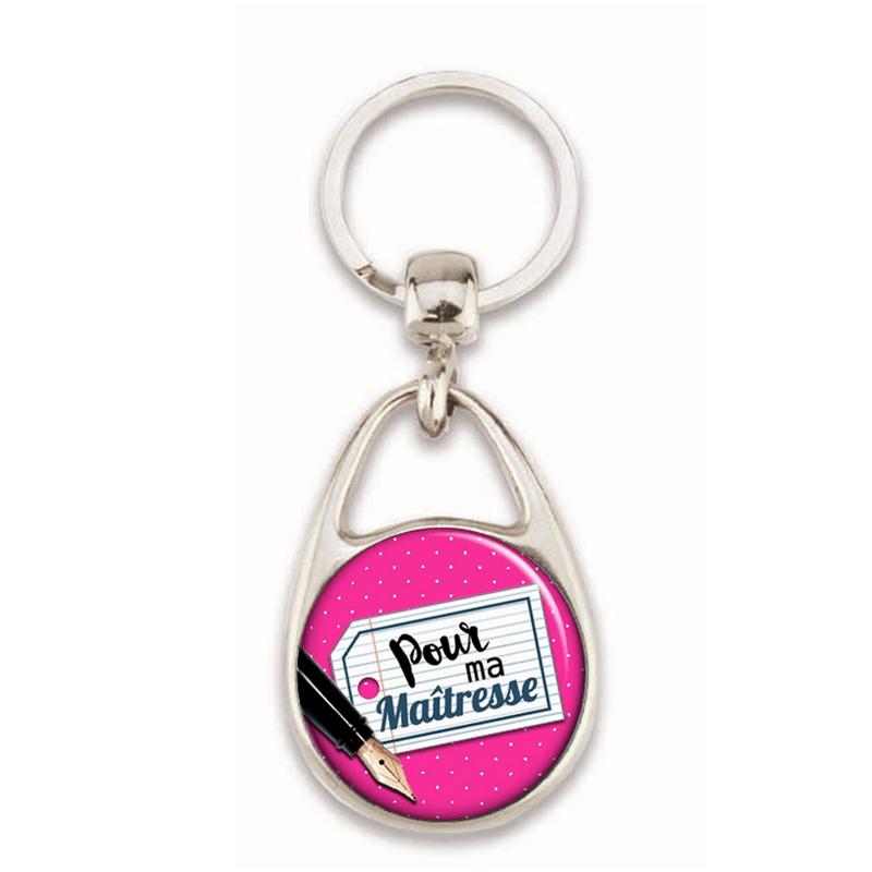Porte clés maitresse - idée cadeau - Em création