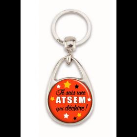 Porte clés Aide de Vie Scolaire - Atsem qui déchire - Idée cadeau - Em création