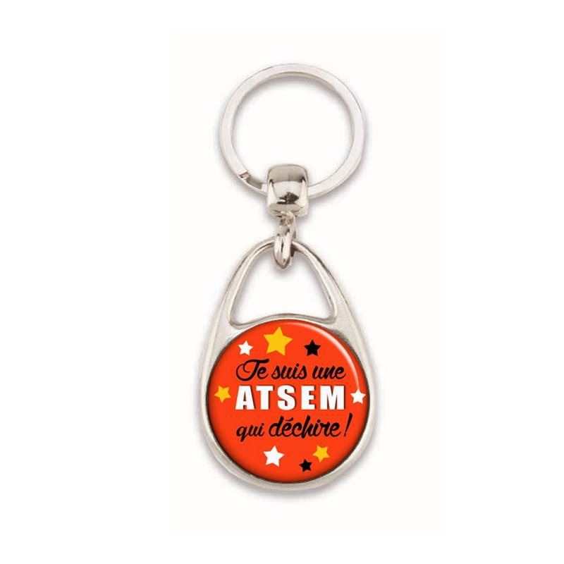 Porte clés Aide de Vie Scolaire - Atsem qui déchire - Idée cadeau