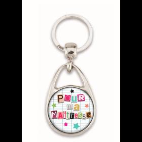 """Porte clés """"Pour ma maîtresse"""" blanc"""