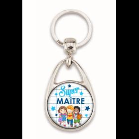 """Beau porte clés """"Super maître"""""""