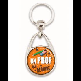 """idée cadeaux prof - Porte clé """"Un prof qui déchire"""" - Em création"""