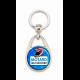 """Porte clés """"Motard qui déchire"""" bleu"""