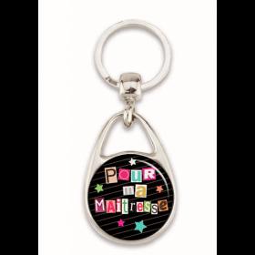 """Porte clés """"Pour ma maîtresse"""" noir"""