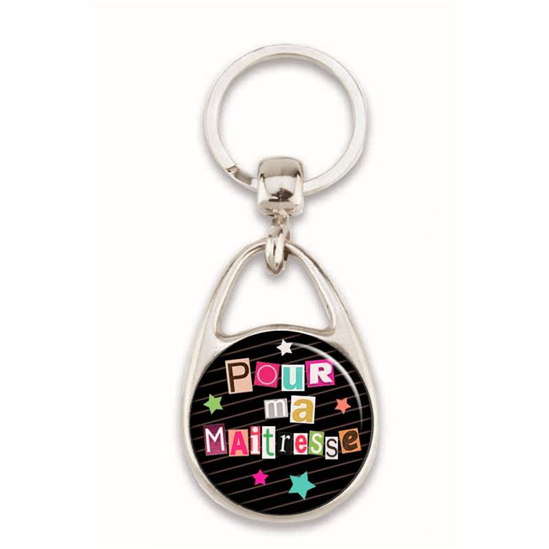 idée cadeau maitresse-porte clés maitresse pas cher