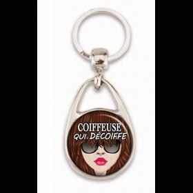 Porte clés coiffeuse - em creation