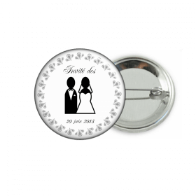Badge mariage personnalisable