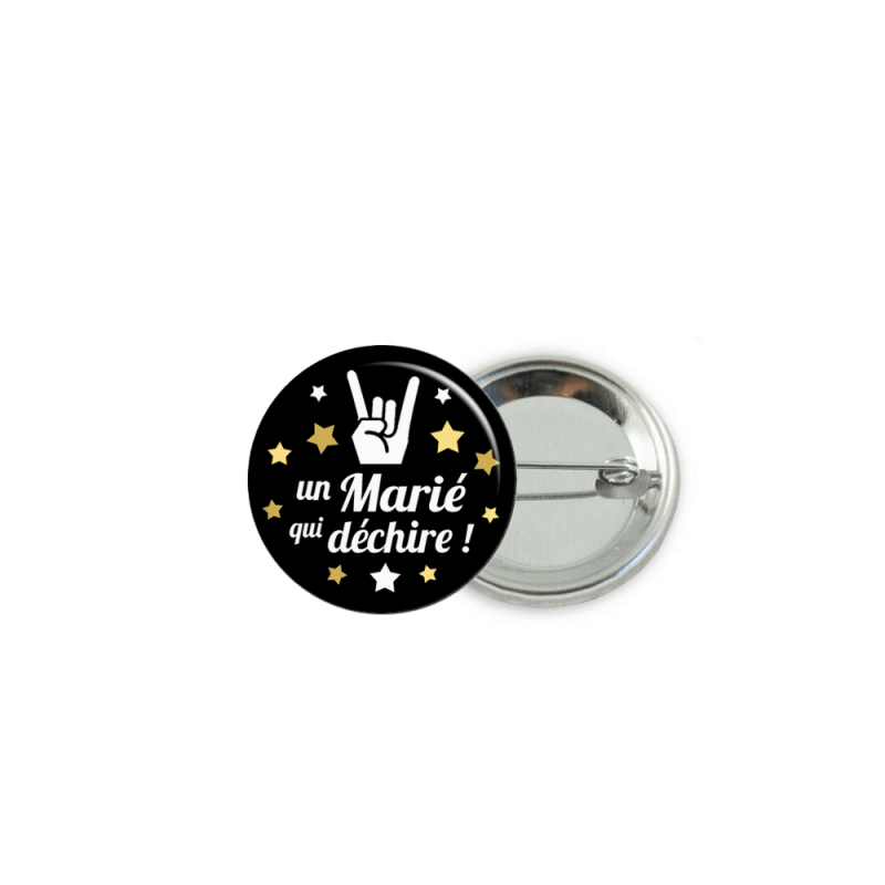 Badge un marié qui déchire - Em creation