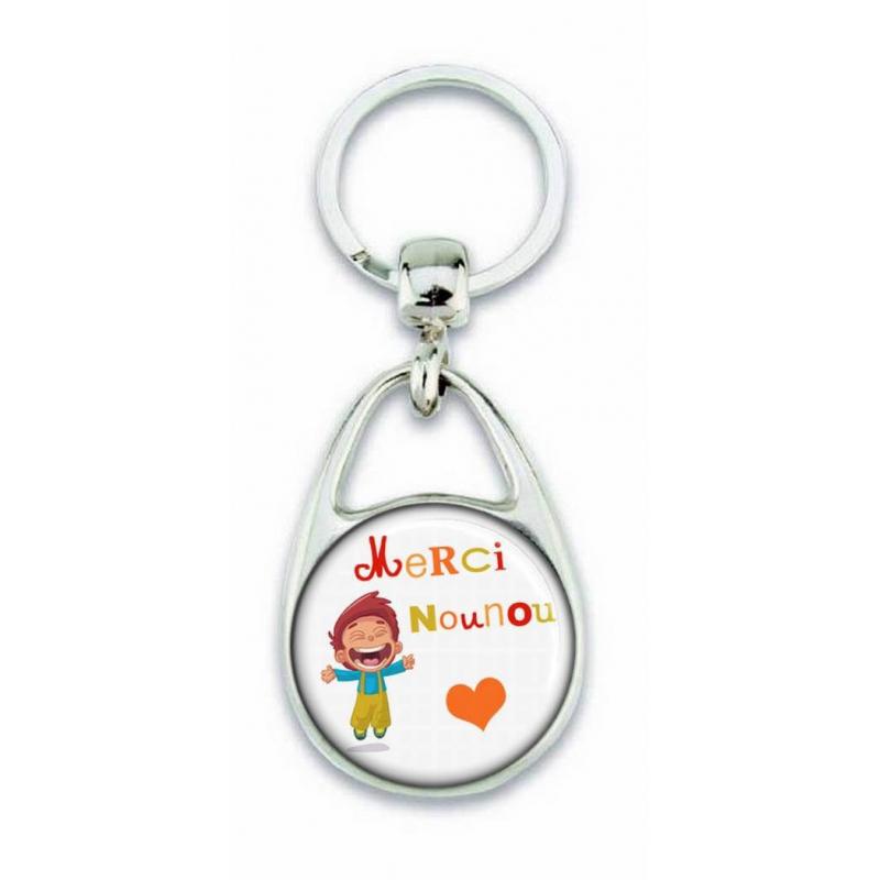 Porte clés Merci nounou - Em creation