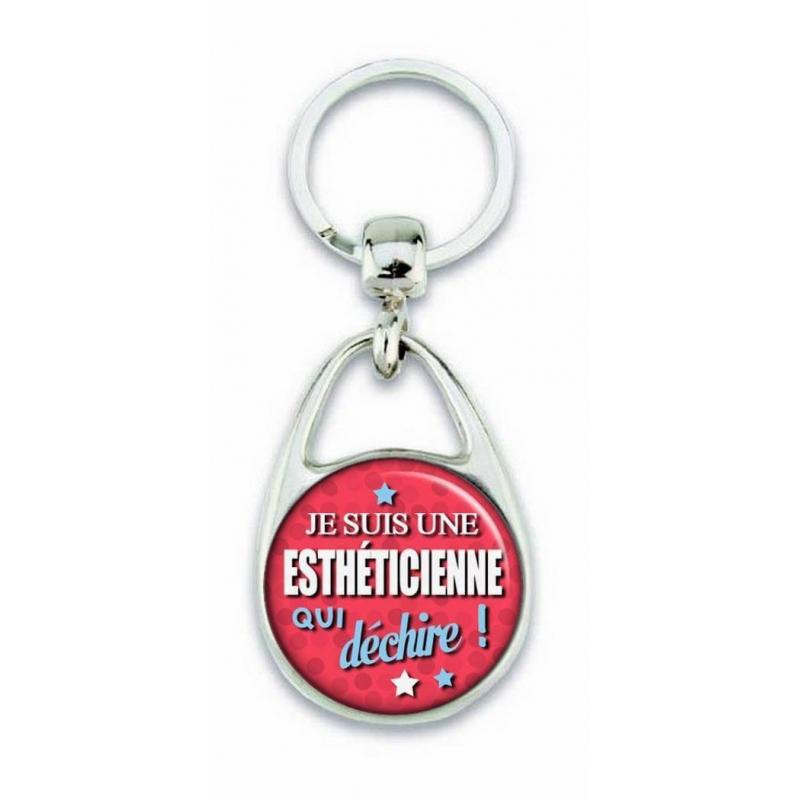 Porte clés esthéticienne - Em creation