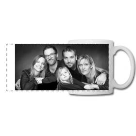 Mug personnalisé panoramique noir et blanc - Em création - Em création