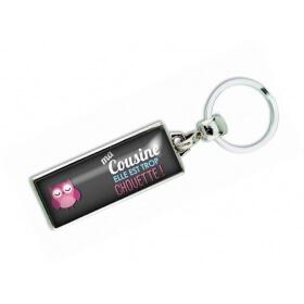 Porte clés 'Ma cousine elle est trop chouette' - Em creation