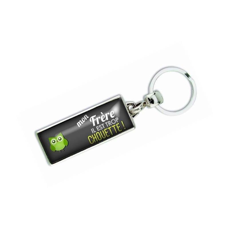 Porte clés 'Mon frère il est trop chouette' - Em creation