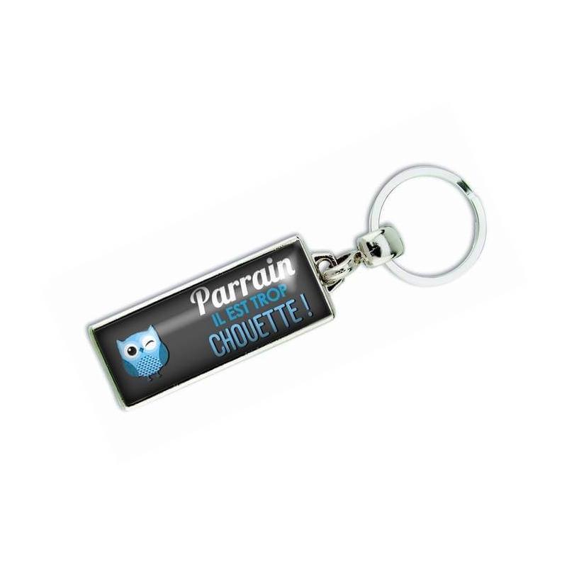 Porte clés 'Parrain il est trop chouette' - Em creation