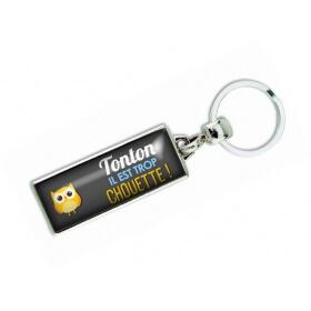 Porte clés 'Tonton il est trop chouette' - Em creation
