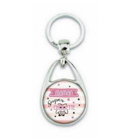 Porte clés maman super chouette - Em création
