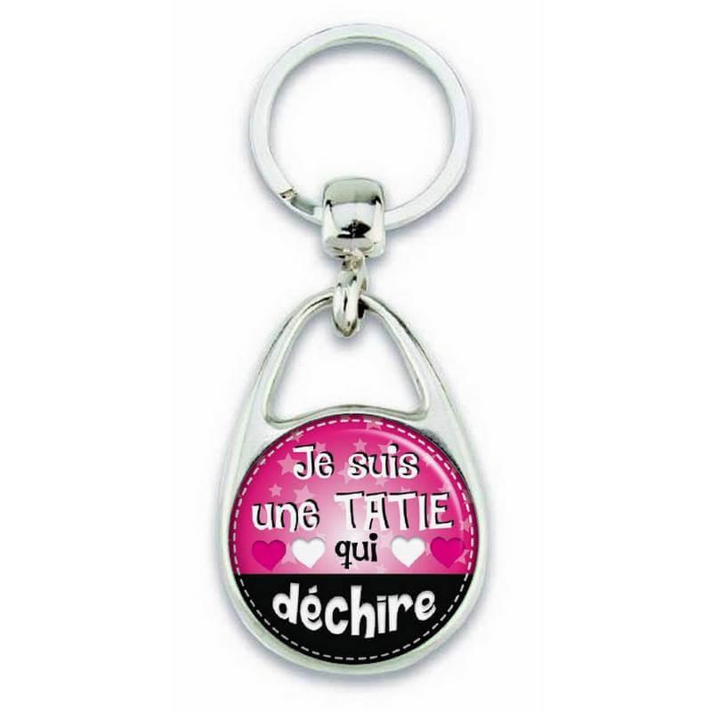 Porte clés 'je suis une tatie qui déchire' - Em création