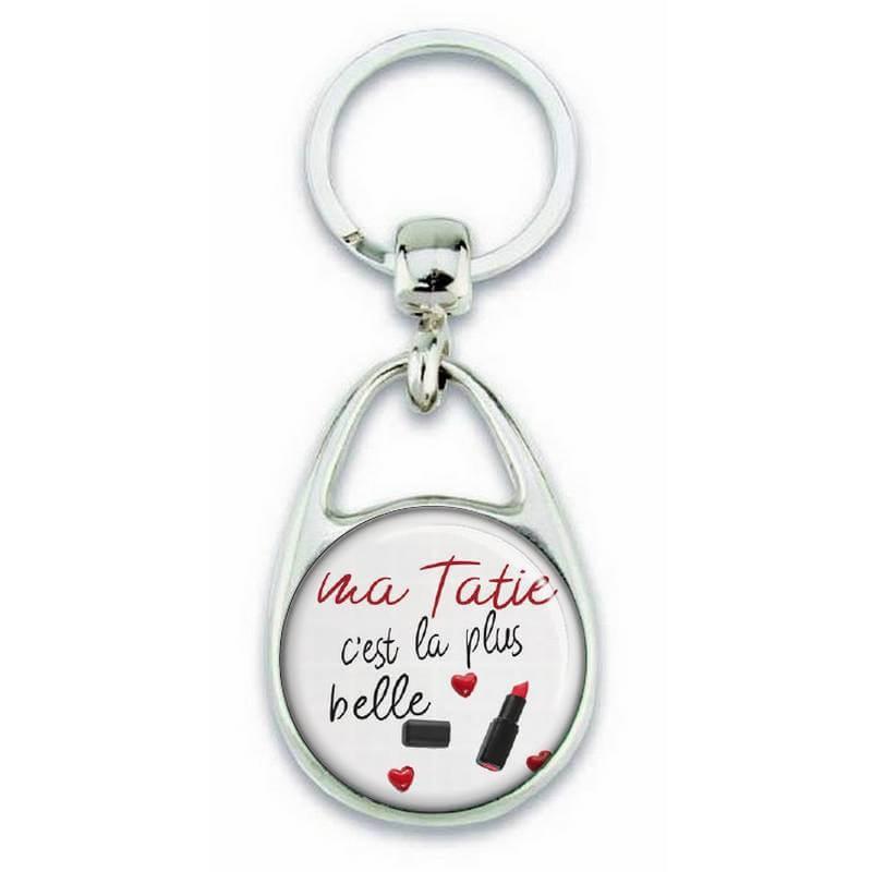 Porte clés 'ma tatie est la plus belle' - Em création