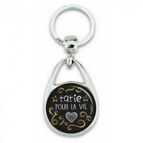 Porte clés 'Tatie pour la vie'