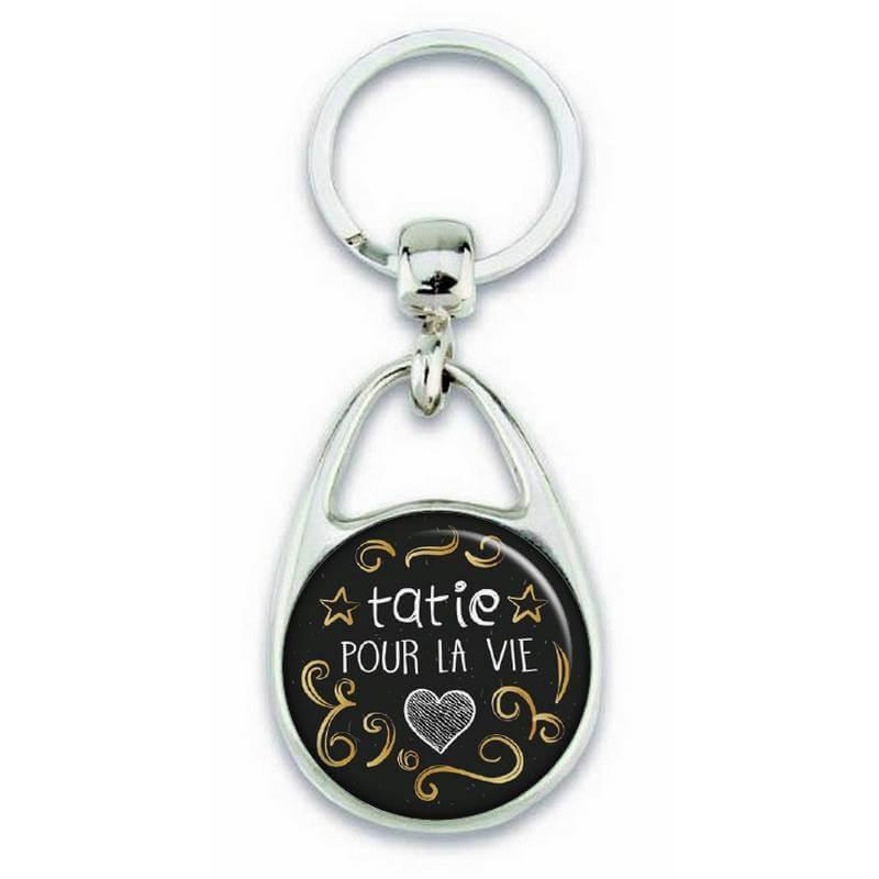 Porte clés 'Tatie pour la vie' - Em création