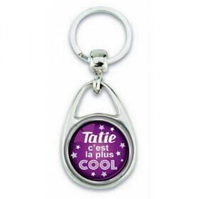 Porte clés 'Tatie c'est la plus cool' - Em création - Em création