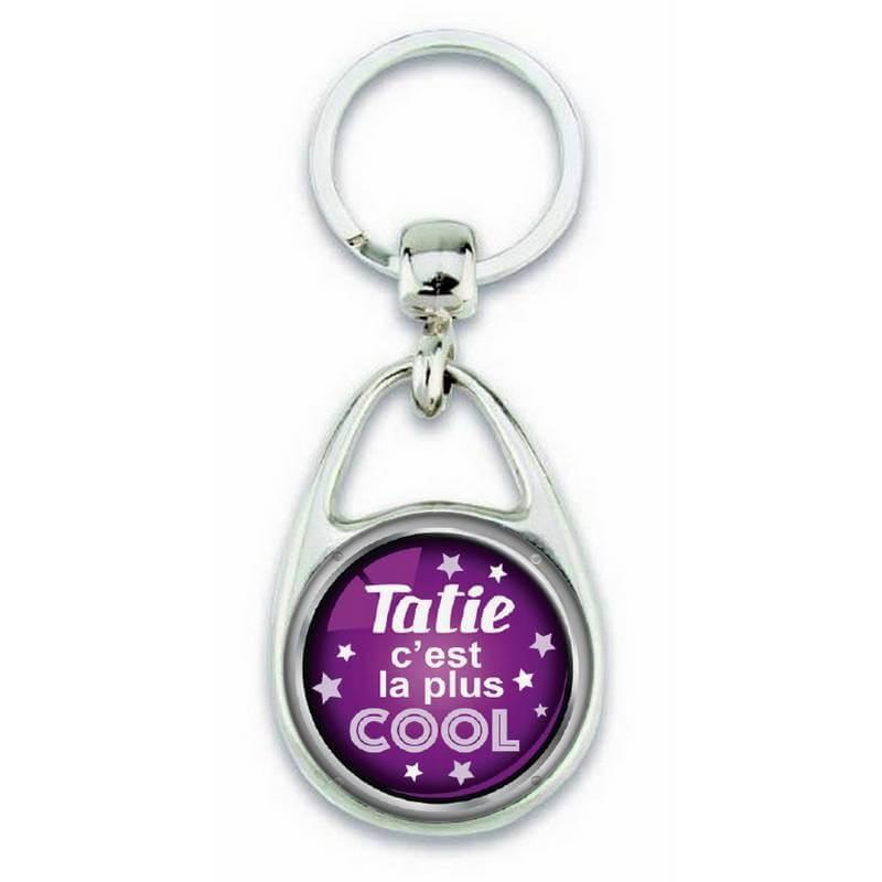 Porte clés 'Tatie c'est la plus cool' - Em création
