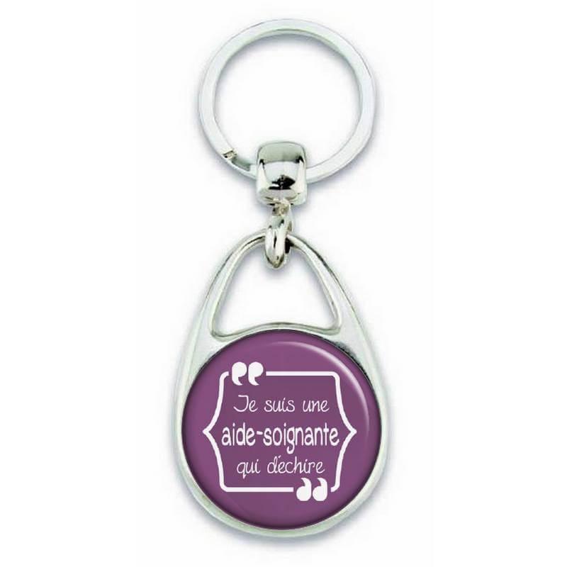 Porte clés pour une aide soignante qui déchire - Em création