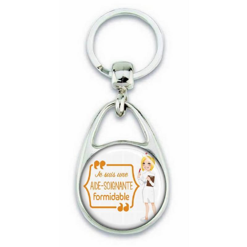 Porte clés 'je suis une aide soignante formidable'