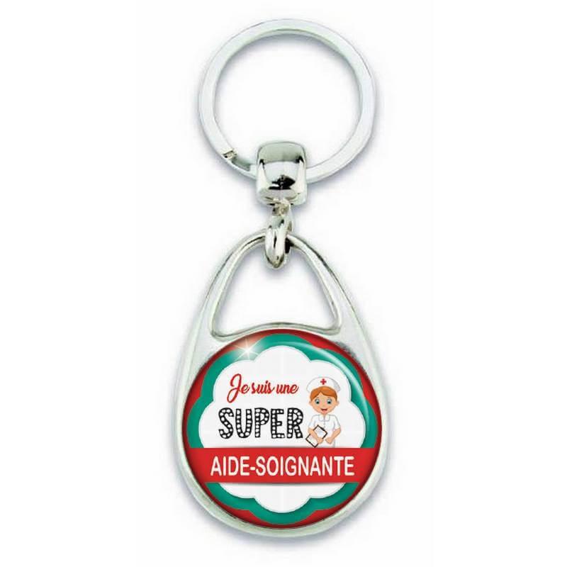 Porte clés je suis une super aide soignante - Em création