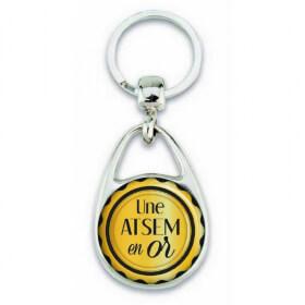 """Porte clés """"Une atsem en OR"""" - Em création - Em création"""