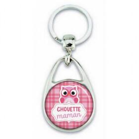 Porte clés chouette maman rose - Em création - Em création