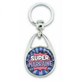Porte clés super marraine comics - Em création