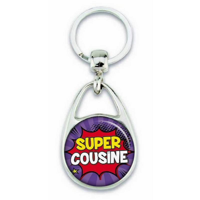 Porte clés super cousine comics - Em création