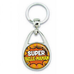 Porte clés super belle maman comics - Em création - Em création