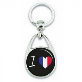 Porte clés ' J'aime la france '