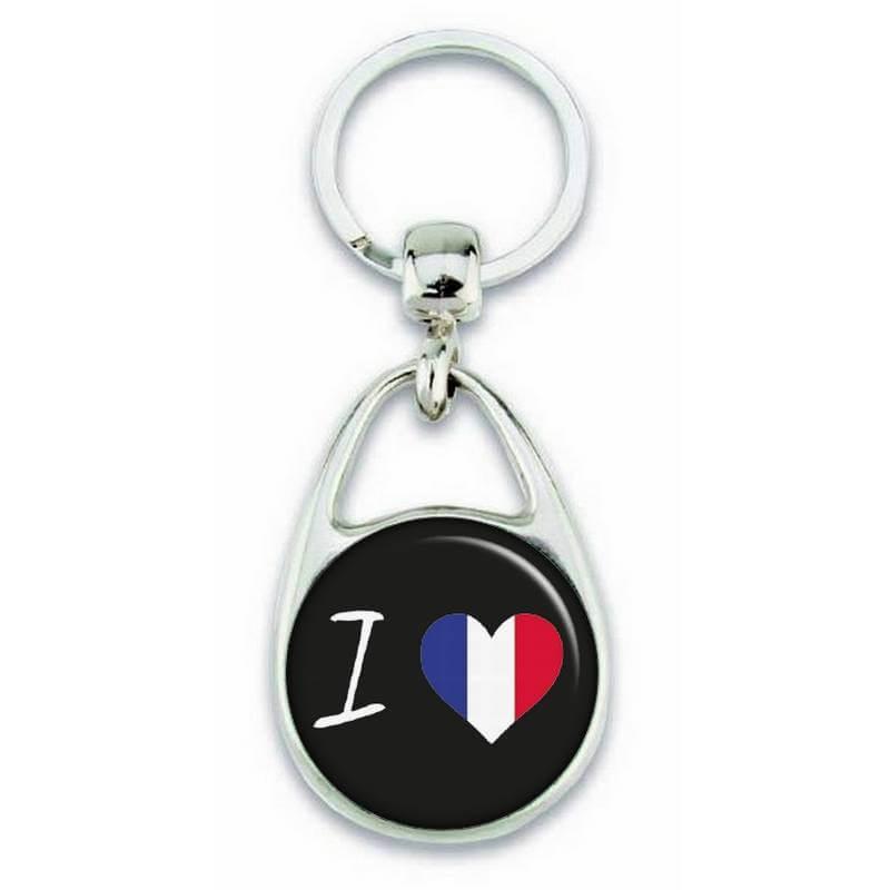 Porte clés J'aime la france - Em création