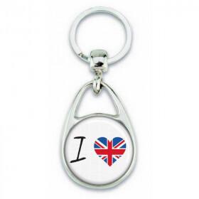 Porte clés ' J'aime le Royaume-Uni ' - Em création