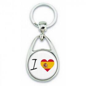 Porte clés ' J'aime l'Espagne ' - Em création