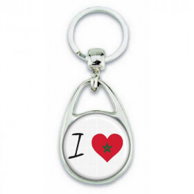 Porte clés ' J'aime le Maroc ' - Em création