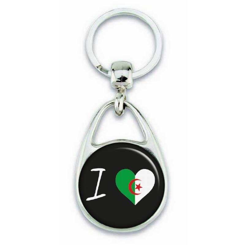 Porte clés ' J'aime l'Algérie ' - Em création