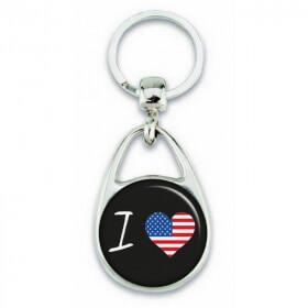 Porte clés ' J'aime les États-Unis ' - Em création - Em création