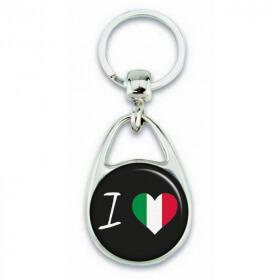 Porte clés ' J'aime l'Italie ' - Em création