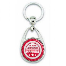 """Porte clés """"Je suis la meilleure Infirmière"""" - Em création - Em création"""