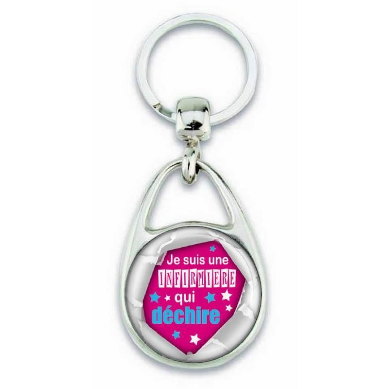 Beau porte clés pour une infirmière qui déchire - Em création