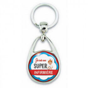 """Porte clés """"Je suis une super Infirmière"""" - Em création - Em création"""
