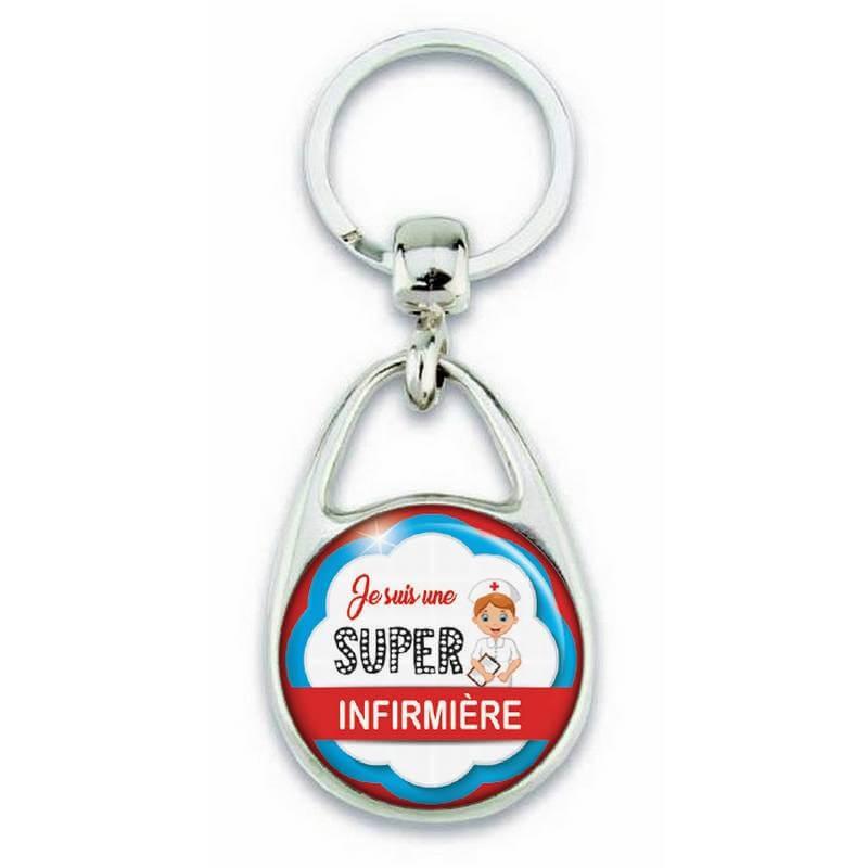 """Porte clés """"Je suis une super Infirmière"""" - Em création"""