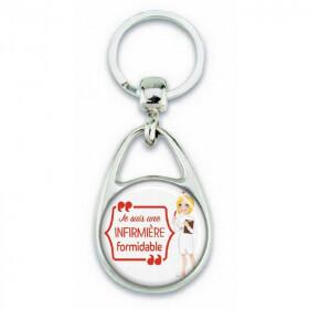 """Porte clés """"Je suis une infirmière formidable"""""""